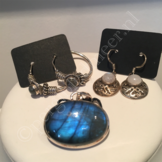 Zilveren edelsteen sieraden