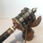Gebedsmolen met mantra 22cm koper
