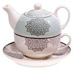 tea for one mandala grijs