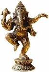 Ganesha 'dansend' brons 7 cm