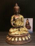 'Amithaba' Boeddha Dhyani  tweekleurig  15cm
