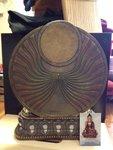 Boeddha 'Shakyamuni' bronskleur 34.5 cm