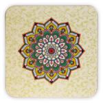 Mandala onderzetters groen set van 6
