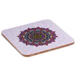 Mandala onderzetters paars set van 6