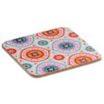 Mandala onderzetters kleurrijk set van 6