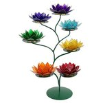Chakra lotus display incl 7 waxinehouders