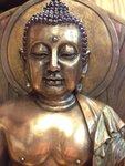 Shakyamuni Boeddha bronskleur 34.5 cm