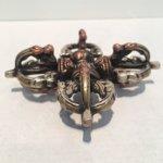 Dubbele Dorje groot brons 3 kleuren.