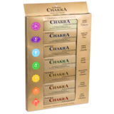 set van zeven chakra's wierook
