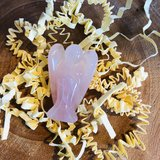 Rozenkwarts engel edelsteen 3.5 cm_
