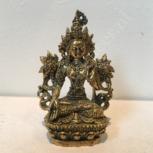 Witte Tara 6cm brons miniatuur