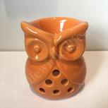Waxmeltbrander keramiek uil oranje