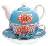 Tea for One mandala motief blauw
