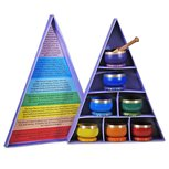 Chakra klankschalen geschenk set van 7