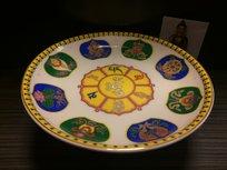 Offerschaal keramiek 8 voorspoedsymbolen 17.5cm