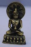 Boeddha 'aureool' 5cm (mini, brons)