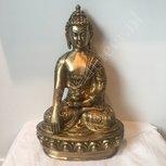Shakyamuni Boeddha messing 27 cm