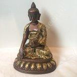 Shakyamuni Boeddha tweekleurig 15 cm
