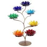 Chakra lotus display incl 7 waxinehouders