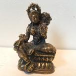 Groene Tara  6cm brons miniatuur