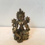 Groene Tara 4,6cm brons miniatuur