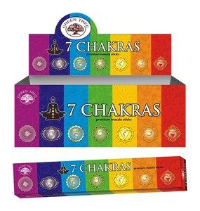 7 chakra's wierook - 15 gram