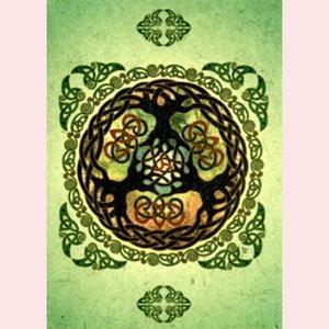 Amber Lotus celtic yule tree