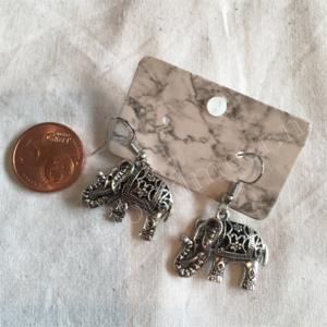 Oorbel zilver India bohemian stijl 12