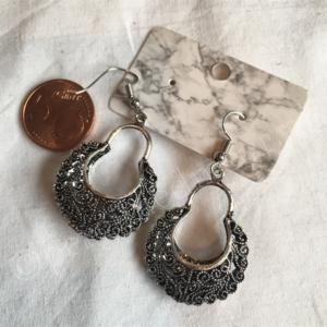 Oorbel zilver India bohemian stijl 10
