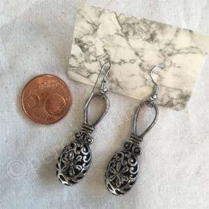 Oorbel zilver India bohemian stijl 1