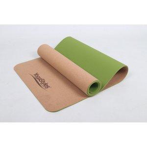 Yogamat Yogastyles Cork TPE Green