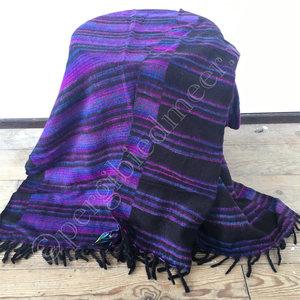 Yogastyles meditatie omslagdoek gestreept paars