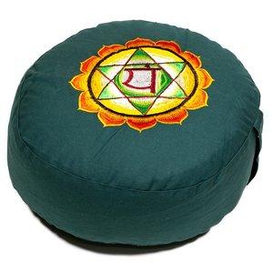 4de Chakra meditatiekussen groen Hart/Anahata 33x15cm