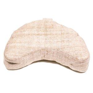 Meditatiekussen hennep naturel halve maan 30x13cm