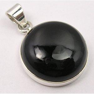 Hanger Onyx edelsteen rond zilver
