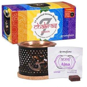 Aromafume alle 7 Chakra's wierookblokjes probeerset