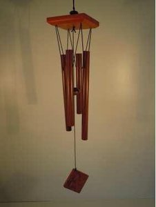 Windgong houtlook met 4 buizen 62 cm