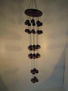Windgong brons met 40 bellen 85cm