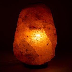 Himalaya Zoutlamp ruw 7 tot 10 kilo met ledlamp