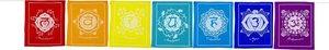 Chakra gebedsvlaggen 140cm 7 vlaggen