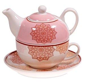Tea for One mandala motief roze