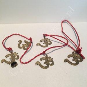 Koord met 5 Ohm-symbolen en 1 belletje
