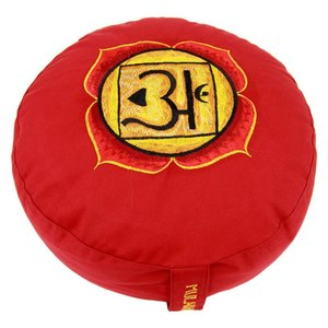 1ste Chakra meditatiekussen rood Stuit/Muladhara 33x15cm