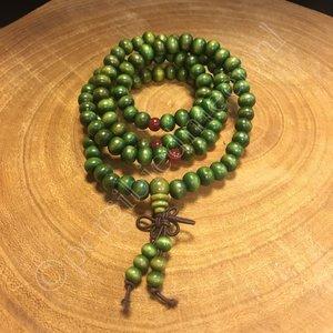 Mala 108 kralen hout groen