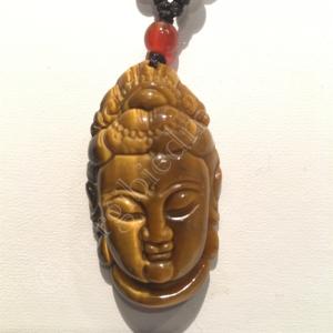 Boeddha hanger Tijgeroog edelsteen