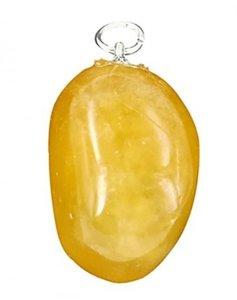Edelsteenhanger Calciet oranje/geel