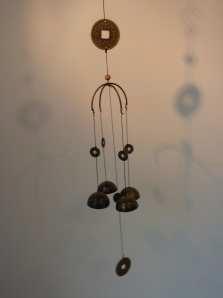 Windgong 'Munt/boog'  metaal  (60cm)