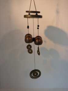 Windgong '5 munten' metaal ca. 65cm