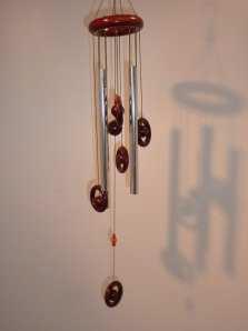 Windgong 'Classic' rond met houten ringen (55cm)
