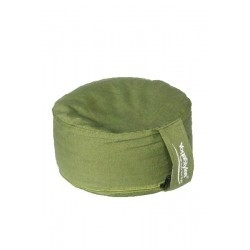 Meditatiekussen Chakra 4 effen groen 33x15cm